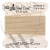 Dazzle-it 100% Silk Bead Cord with needle 2M #8(0.80mm) Beige